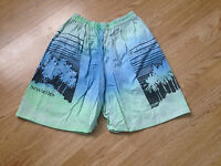 MENS 90'S VINTAGE RETRO BRIGHT BOLD BERMUDA SHORTS IBIZA FRESH PRINCE MEDIUM