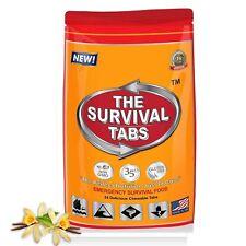 Hurricane Emergency Preparation Food Survival Tabs  Vanilla Malt Flavor Supply