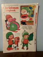 Vintage Whitman Christmas playbook paper dolls punch out activities games