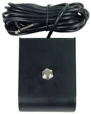 """One Button amplifier footswitch contoured black w 1/4"""" TS plug for Marshall Amps"""