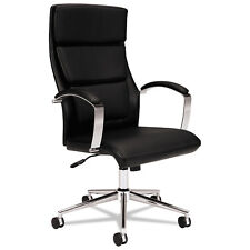 Basyx VL105 Series Executive High-Back Chair Black Leather VL105SB11