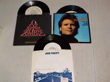 "JOHN FOGERTY Lot of 3 Vinyl 45's in Picture Sleeves w/ ""Eye Of Zombie"" RE6424"