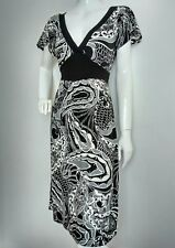 OASIS print jersey dress size 12 --USED ONCE-- knee length short sleeve