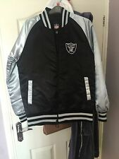 Satin Oakland Raiders Bomber Jacket, small