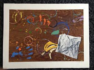 "CHRIS PLOWMAN 1952-2009 Limited Ed SCREENPRINT ""Work Surface"" 14/30"