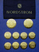 10 NORDSTROM blazer replacement gold/silver 2 tone metal buttons good used cond.