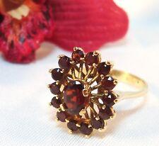 Granat Ring 750 er Gold garnet gold Fingerring Granatring / Art. rr 541