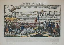 """""""BATAILLE DE LUTZEN"""" Imagerie d'Epinal originale entoilée François GEORGIN"""