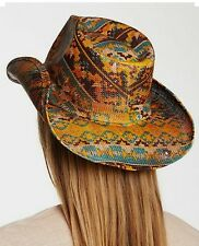 PETER GRIMM AZTEC Tribal DRIFTER HAT COWGIRL GYPSY COWBOY  nwt