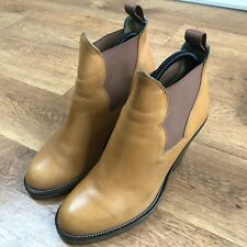 Acne Studios Ankle Boots Pistol Leather Tan Brown UK 7 Size 40