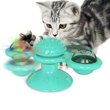 Cat Turning Windmill Turntable Tickle Cat Toy Scratch Hair Brush Pet Accessories