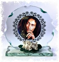 Bob Marley Cut Glass Round Plaque  Limited Edition   Cellini-Plaques  #