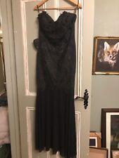 Black Lipsey Dinner Dress Size 12 Mermaid Style