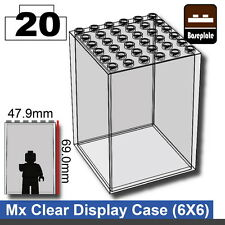 Clear Minifigure display case (W283) compatible with toy brick minifigs