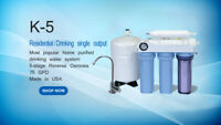 KoolerMax K-5 REVERSE OSMOSIS RO WATER FILTER SYSTEM DRINKING USA Made