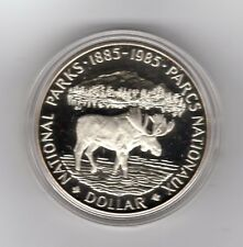 1985 Canada $1 Silver Coin  National Parks Centennial Proof Encapsulated No Box