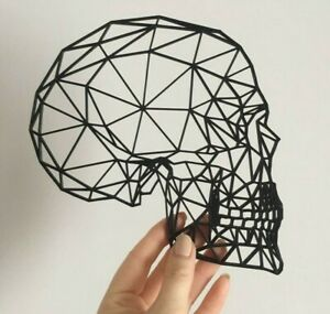 Geometric Skull Wall Art Hanging Decoration Origami Gothic Pick Your Colour