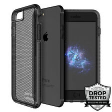 """Prodigee Safetee iPhone 7 PLUS 5.5"""" Case Cover Clear Smoke Gray Black Drop Test"""