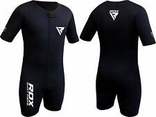 Rdx Costume Sauna Combinaison sudation Survêtement Perte Poids Sweat Suit FR Noir L