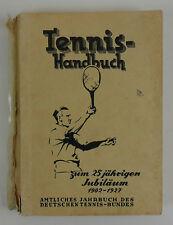 Tennis Handbuch Jahrbuch 1927 Gruber Official Yearbook Germany 25 Jahre Years