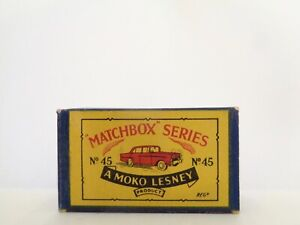 box for 1958 MOKO Lesney MATCHBOX No.45 'VAUXHALL VICTOR'------see photos & more
