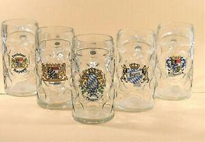 Maßkrug,Glas, Bayernmotiv Größe 1 Liter plus 2x Bayerischer Bierschatten gratis