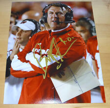 Bret Bielema Authentic Signed 8x10 Photo Autographed, Wisconsin Football w/ Proo