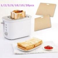 1-20pcs Reusable Toast Bag Non-stick Bakery Sandwich Cake Heat-Resistant Holder