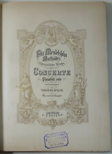Mendelssohn T. 4 et 5 Concerte - Compositionen C. F. Peters 19è 16 pièces Piano