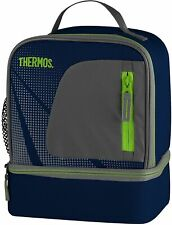 GENUINE THERMOS Navy Insulated Picnic Lunch Dual Cooler Bag Radiance Design