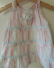 Little Rocha pastel stripes strappy baby dress 9-12 months