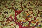STUNNING GREEN TREE OF LIFE BEDSPREAD WALL HANGING TABLE THROW DOUBLE QUEEN