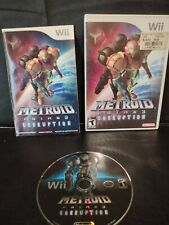 Metroid Prime 3 Corruption Wii video game & manual Ships within 24 Hrs payment