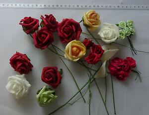 Rosen Rosenköpfe Calla künstliche Blumen mix  26 Stück