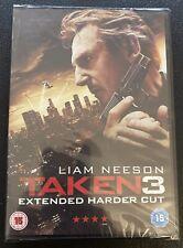 TAKEN 3 III EXTENDED HARDER CUT DVD Liam Neeson Maggie Original UK New & Sealed
