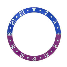 BEZEL INSERT FOR VINTAGE ROLEX GMT I 1675 16750 FUCHSIA BLUE AND RED/PINKISH