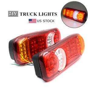 2Pcs LED Taillights 12V Truck Trailer Tail Lights Super Bright Indicator Lights