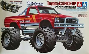 Tamiya 1/10 Scale RC 4WD OFF-ROAD TRUCK Toyota 4×4 PICK-UP MOUNTAIN RIDER 47394