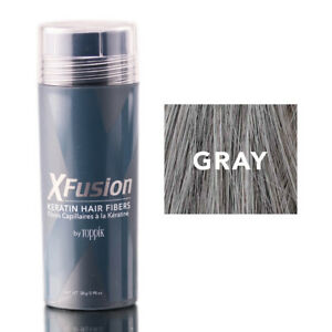 XFUSION by Toppik Keratin Hair Fibers GRAY 28 gms / 0.98 oz - Fast Shipping