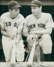 Ted Williams and Joe DiMaggio Compare Notes High Quality 11x14 Archival Photo