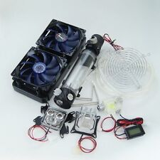 PC Water Liquid Cooling Kit 240 Radiator Reservoir Pump CPU GPU Blocks System