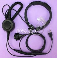 Military Tactical Throat Mic Headset/Earpiece For Motorola Radio Talkabout Basic