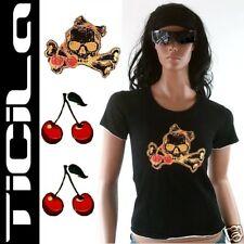 TICILA★CHERRY TIKI GOLD SKULL★Punk Emo Ska T-Shirt XS/S