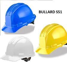 Bullard S51 Flat Style Front Hard Hats Flex-Gear Ratchet Adjustment COLORS NEW!!