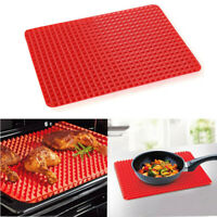 Pyramid Pan Non -Stick Fat Reducing Silicone Cooking Mat Oven Baking Tray Sheets