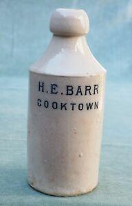 Vintage Australian H.E. Barr Cooktown Stoneware Ginger Beer Bottle