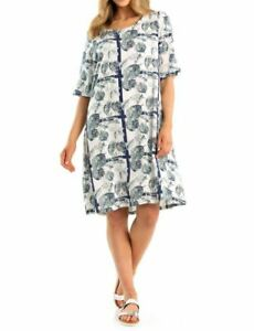 MARCO POLO Women`s Short Sleeve Tropics Shift Dress. Size 14,