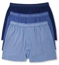 Calvin Klein Underwear Men Blue Ck U3040 Classic 3-pack Knit Boxers Size XL