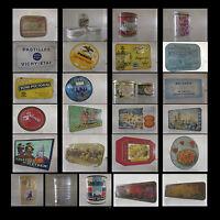 boites publicitaires en métal vintage design XXème CURIOSITY by PN
