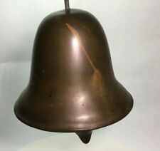 """Vintage Old Bronze Dinner Bell Church, School, Farm Or Boat Deck 5"""" Tall 6""""wide"""
